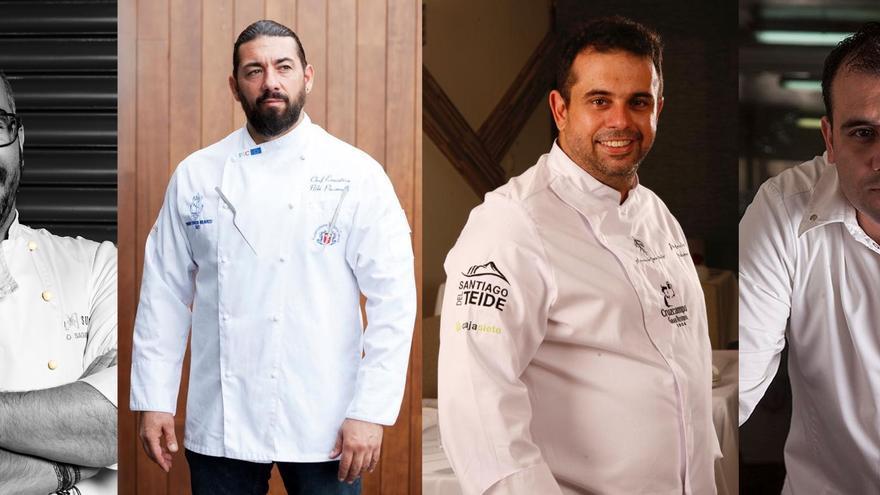 Los chefs que participarán en el evento.