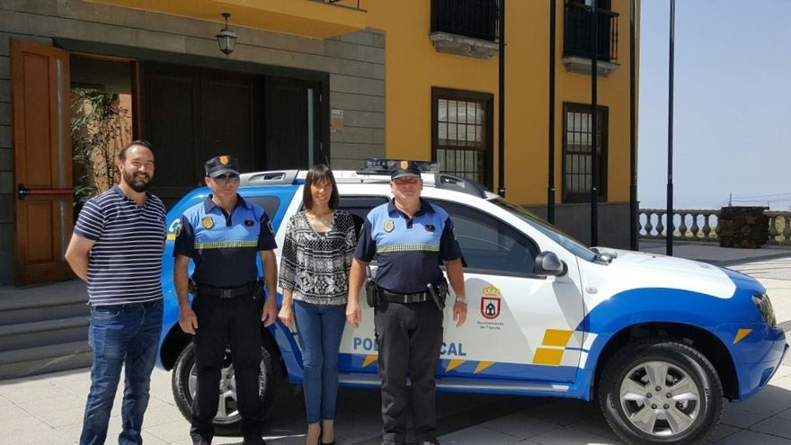 En la imagen, el nuevo coche de la Policía Local de Tijarafe.