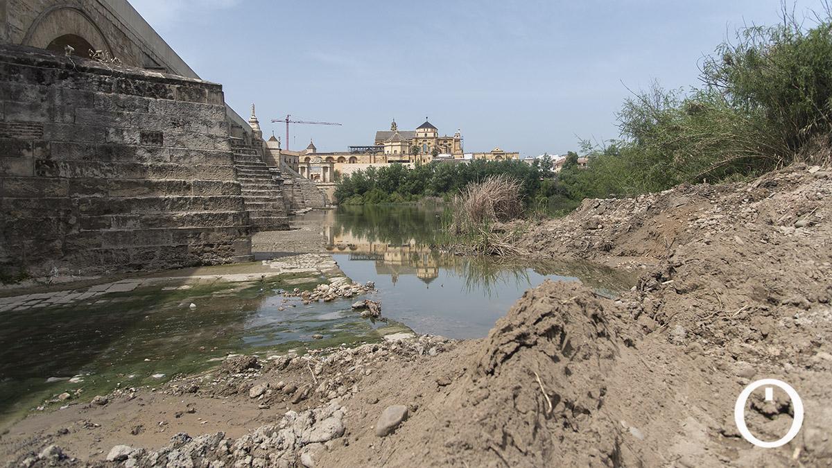 La Junta finaliza este miércoles la limpieza del río, que dice adiós a la 'playa' que creó la última riada