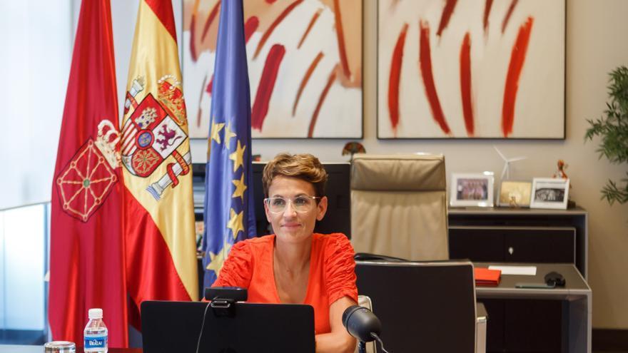 La presidenta del Gobierno de Navarra, María Chivite, participa online en el Foro de Gobiernos Locales y Regionales