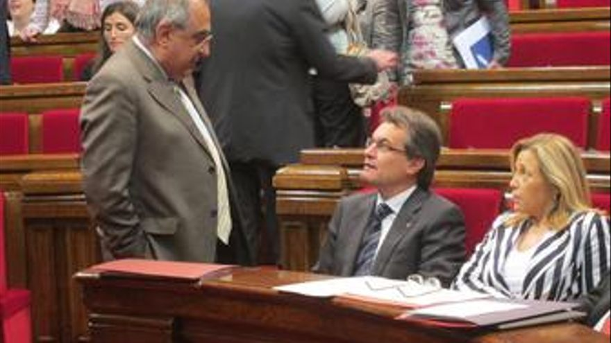 J.Nadal, El Presidente A.Mas Y La Vicepresidenta J.Ortega