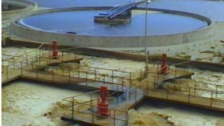 Planta de reutilización de aguas residuales.