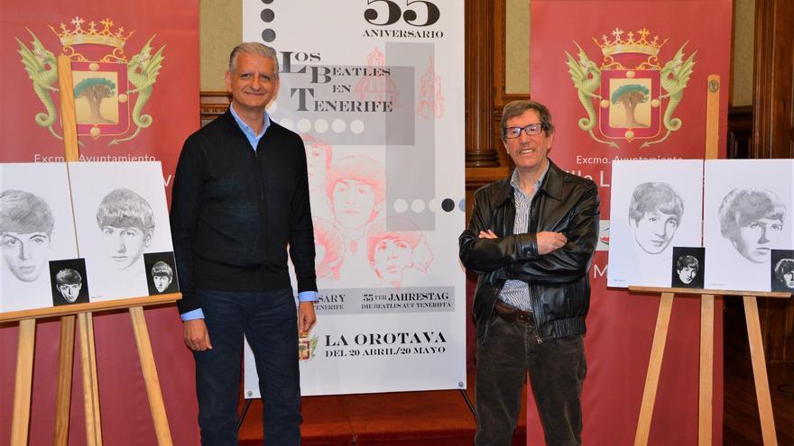 El alcalde Francisco Linares y el historiador Nicolás González Lemus, en la rueda de prensa de este martes