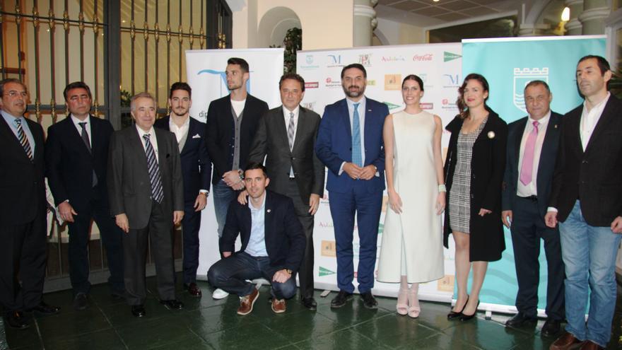 Parte de los galardonados en la gala de la Federación de Periodistas Deportivos en Torremolinos.