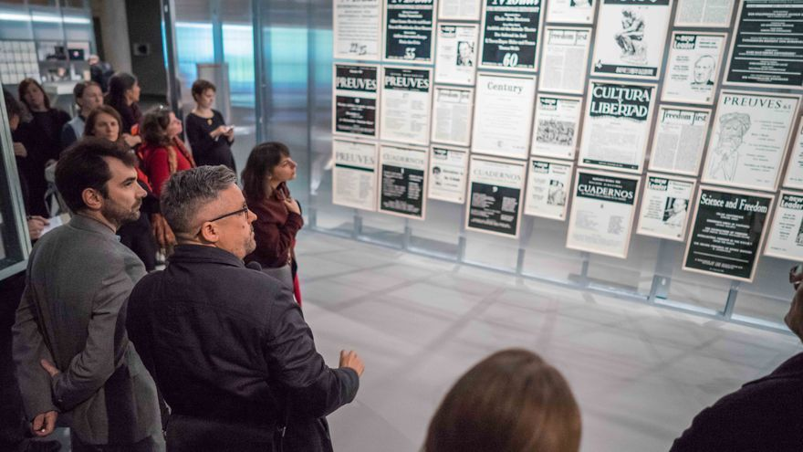 La pieza central de la exposición Parapolítica: libertad cultural y la Guerra Fría     ©Stefan Maria Rother/HKW