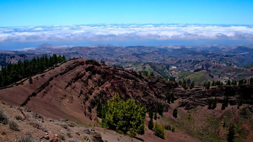 La Caldera de los Pinos de Gáldar, en el Camino de Santiago de Gran Canaria. VA