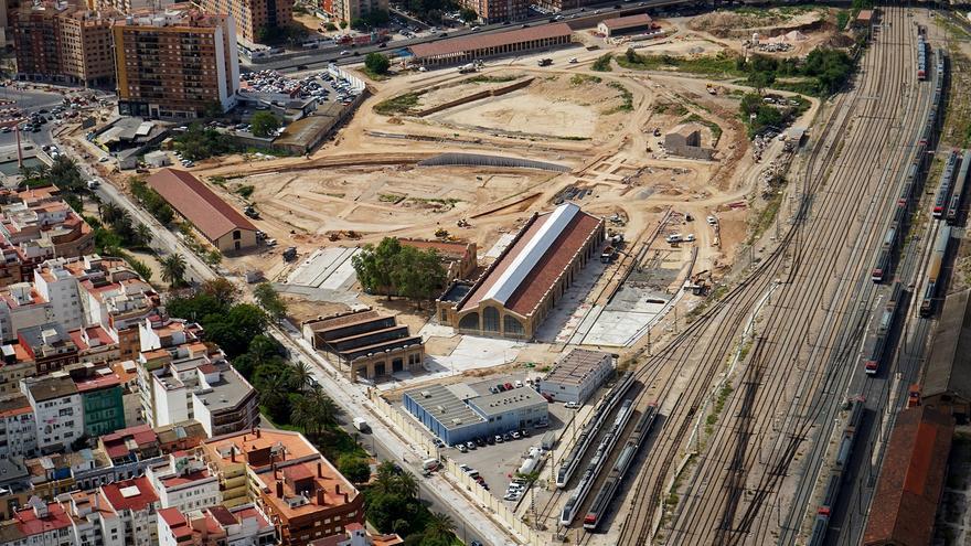 Vista aérea de la zona de actuación del Parque Central