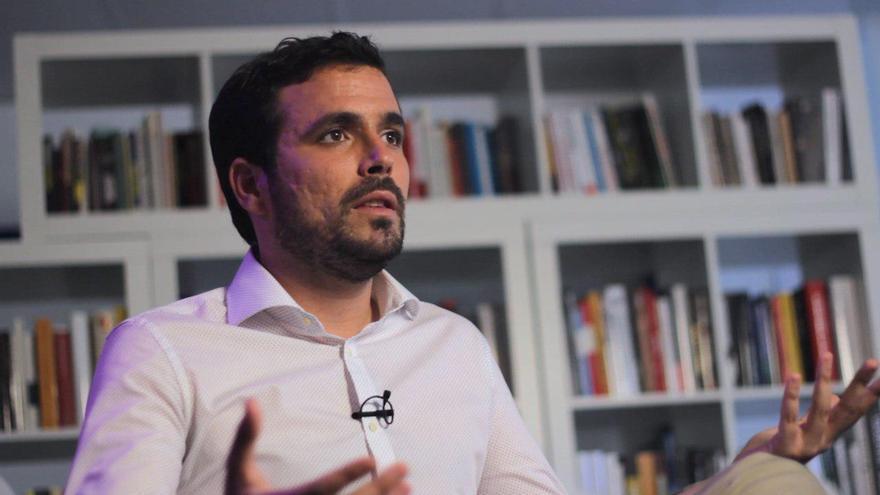 Alberto Garzón, durante la entrevista con eldiario.es