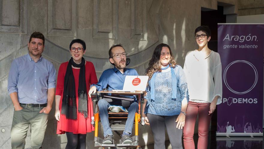 Presentación de los candidatos de Podemos Aragón. Foto: Juan Manzanara