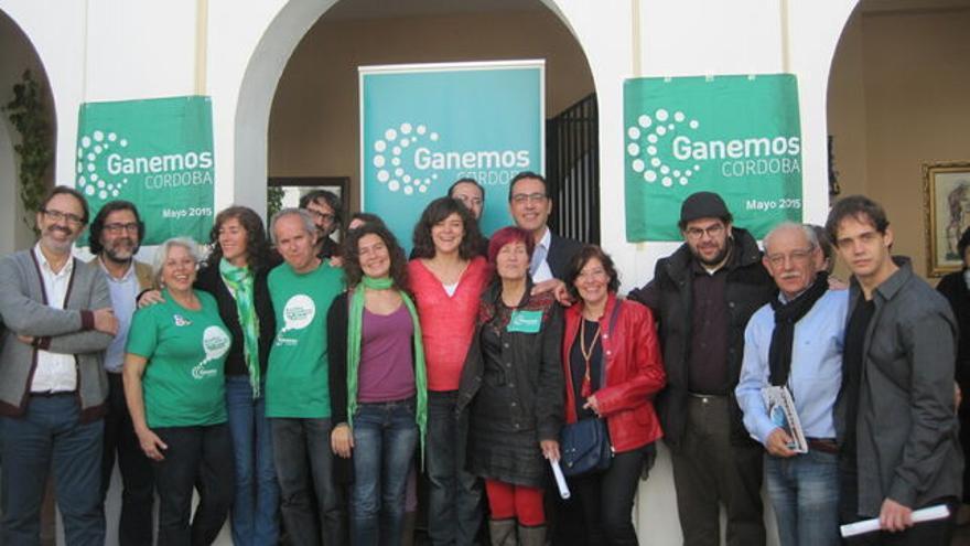 Imagen de archivo de la lista de Ganemos Córdoba en 2015.