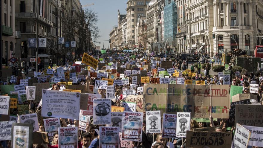 Marcha del 15M verde en la Puerta del Sol en Madrid.
