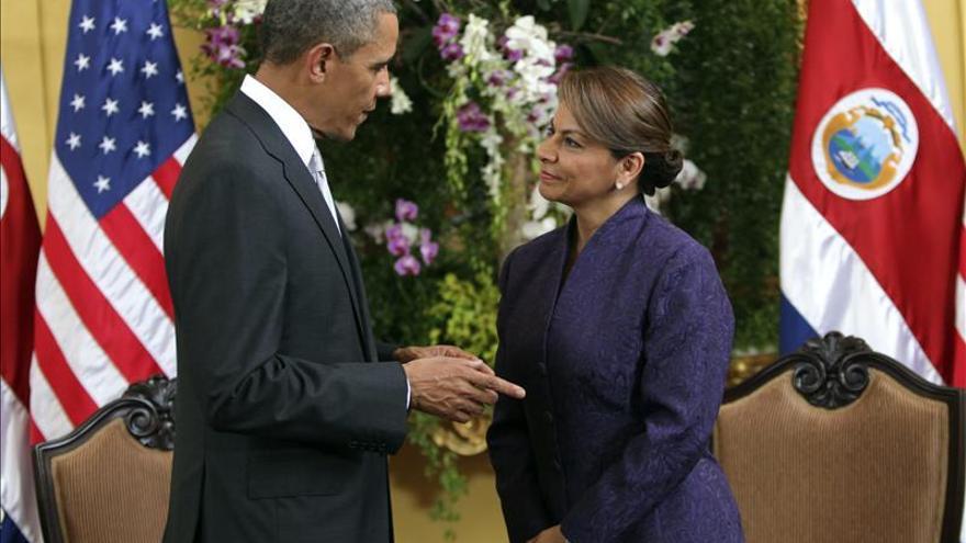 Obama y Chinchilla inician una reunión centrada en el desarrollo económico