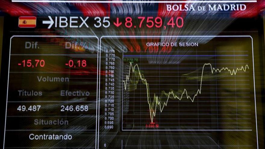 La Bolsa española alcanza los 9.000 puntos tras subir el 1,05 %