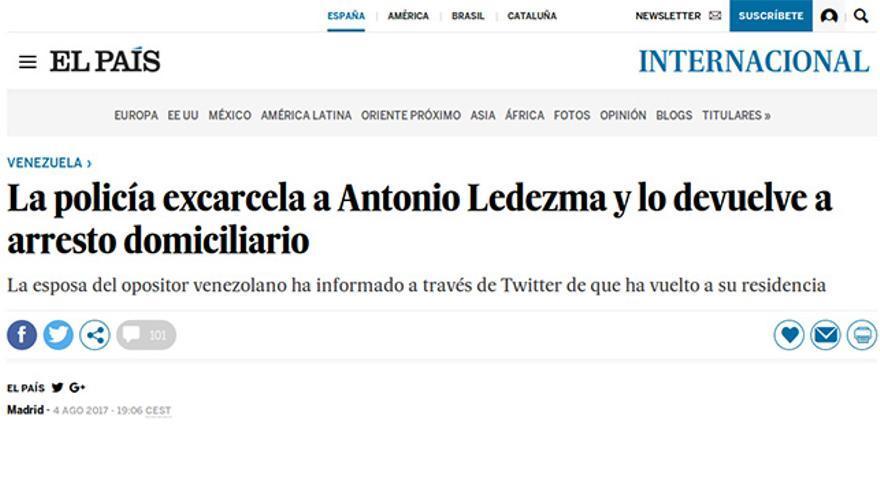 Pieza de El País