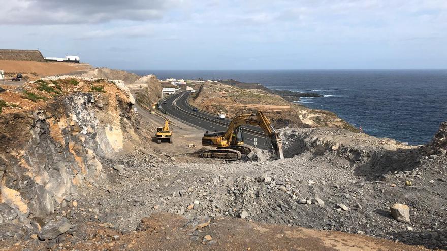 Obras en la circunvalación entre la GC-3 y la GC-2 en el municipio de Arucas