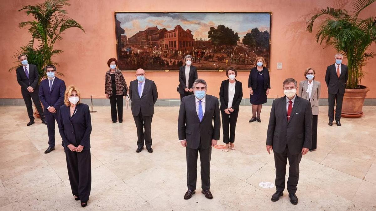 Carmen Cervera y Rodríguez Uribes en la inauguración de la exposición 'Expresionismo alemán en la colección del barón Thyssen-Bornemisza'
