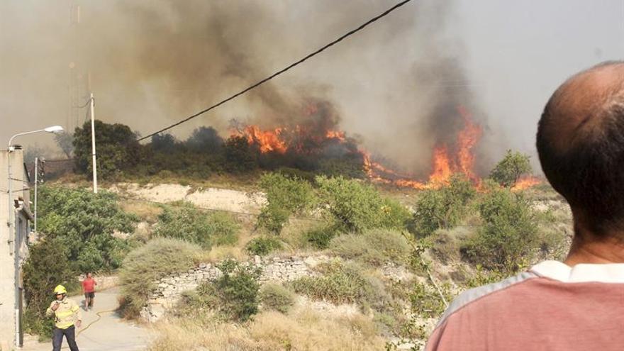 Un incendio de Vallbona de les Monges (Lleida) ha quemado ya 450 hectáreas
