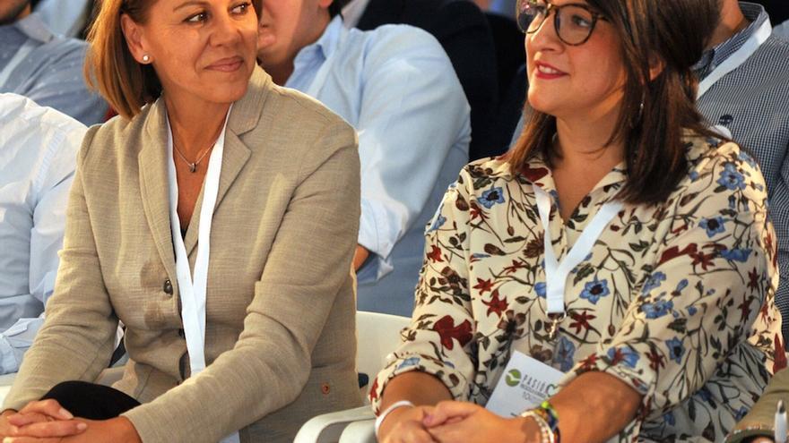 María Dolores de Cospedal y Marta Maroto. FOTO: PP Castilla-La Mancha