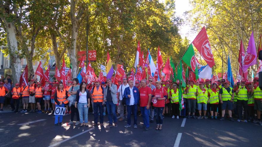 Manifestación por las pensiones dignas en Madrid.
