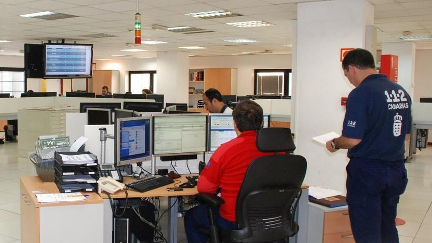 Sala operativa del 1-1-2 Canarias.