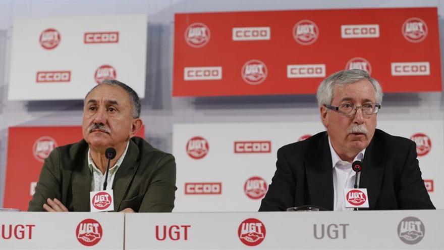 Toxo y Álvarez precisan que la subida salarial para 2017 no está cerrada