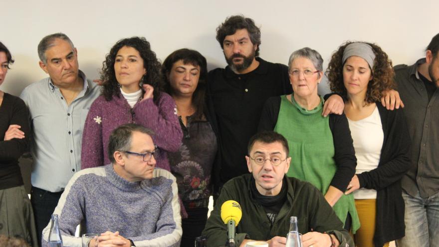 Juan Carlos Monedero ha prestado su apoyo en Murcia a la candidatura 'Claro que podemos' de Toni Carrasco / PSS