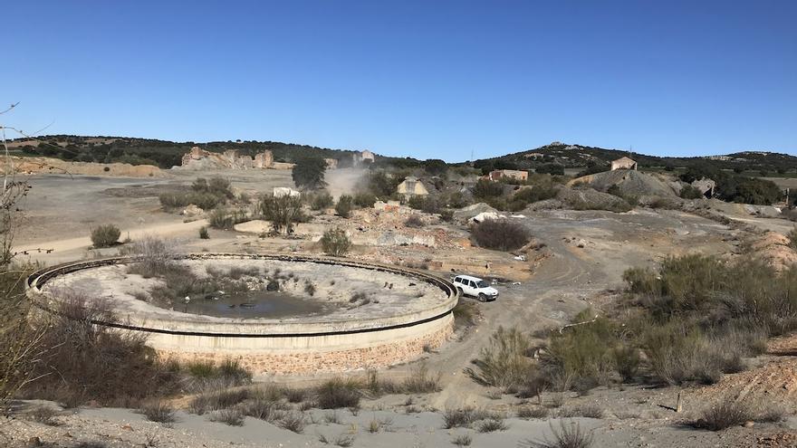 San Quintín, en el municipio de Cabezarados, Ciudad Real, un ejemplo de como quedó la minería en el pasado