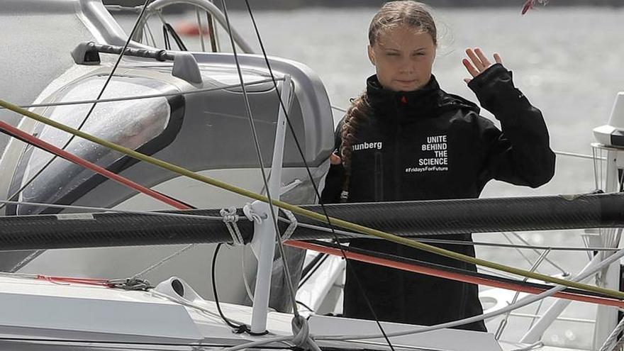 Greta Thunberg zarpa para asistir a la cumbre del clima de septiembre