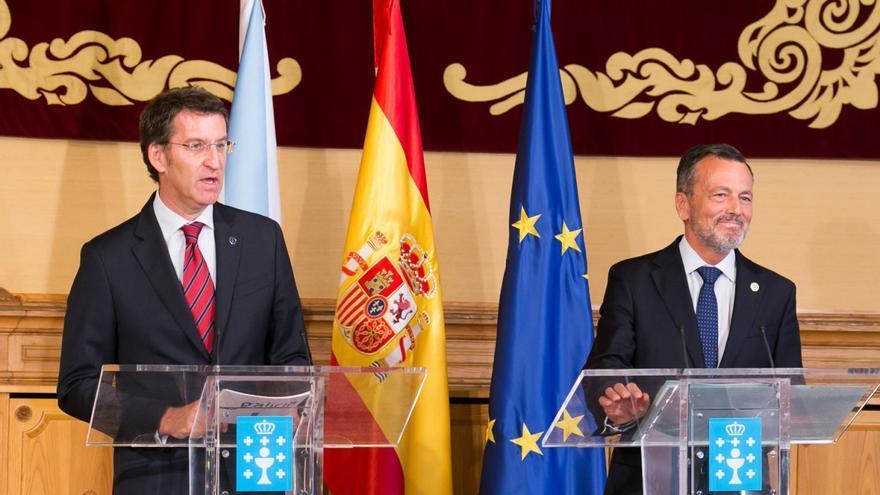 Feijóo y Hernández, tras la reunión
