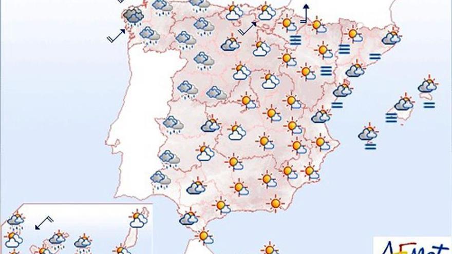 Las lluvias llegarán hoy a todo el oeste peninsular y Canarias