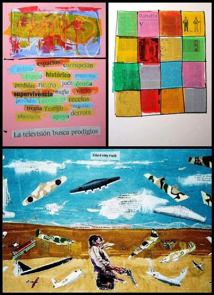 Cartel del taller de collage