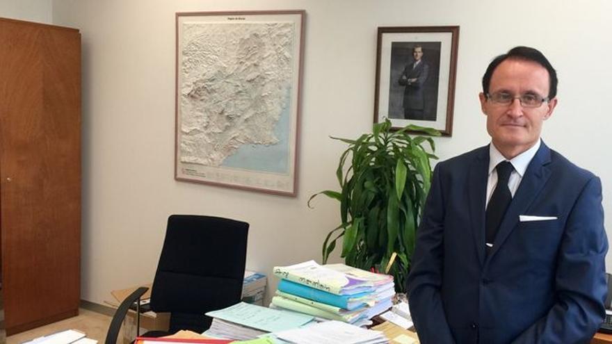 José Luis Díaz Manzanera ante su mesa de la Fiscalía / MJA
