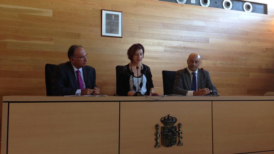 Manuel Fajardo, Rosalía Fernández y Antonio Doreste