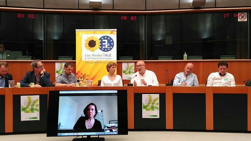 El conseller de Transparencia Manuel Alcaraz en Bruselas