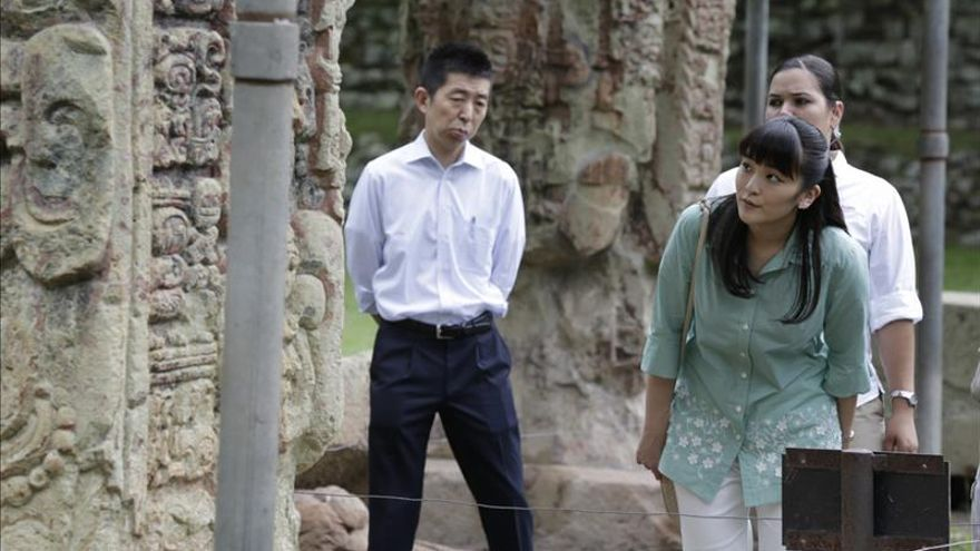 El parque arqueológico maya Copán Ruinas recibe a la princesa Mako en Honduras