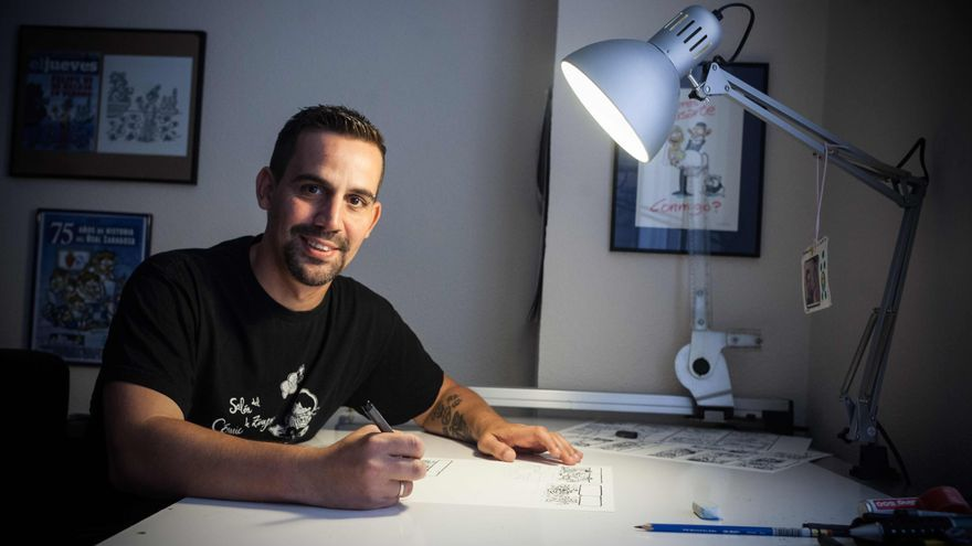 José Antonio Bernal, en su estudio. Foto: Juan Manzanara