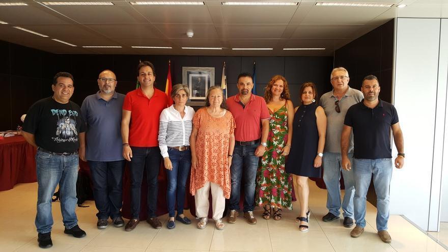 Miembros del jurado del 'II Concurso de Microrrelatos Breña Baja Mágica' y el 'XIV Concurso de Poesía Gumersindo Galván de Las Casas'.