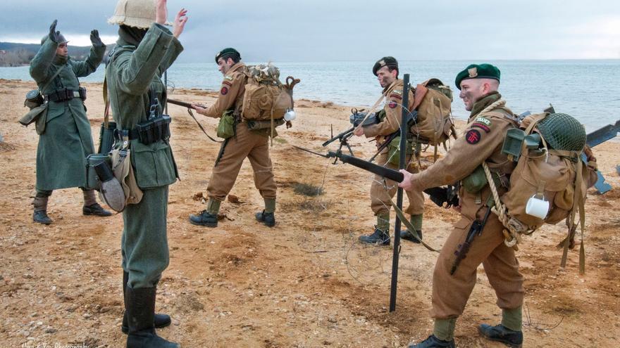 Recreación del Comando Kieffer, en el que había tres vascos. Foto: Alma & You, para la Asociación Sancho de Beurko).