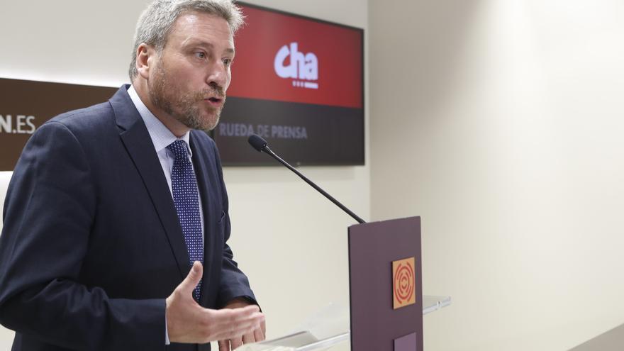 El presidente de CHA, José Luis Soro, en una imagen de archivo en las Cortes de Aragón