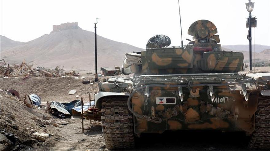 Al menos ocho muertos por el bombardeo gubernamental en la ciudad siria de Palmira