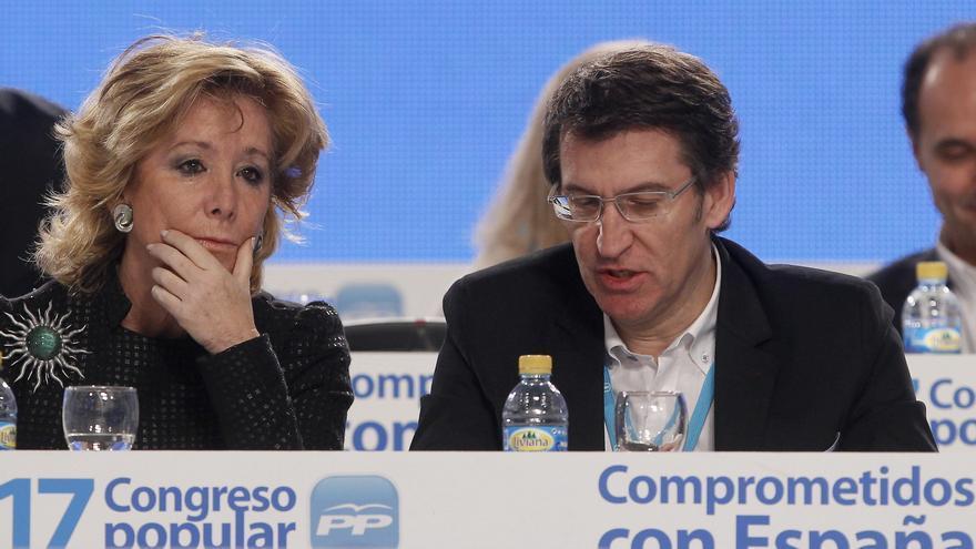 """Aguirre no descarta a Feijóo como sucesor, pero ve """"Rajoy para muchos años"""""""