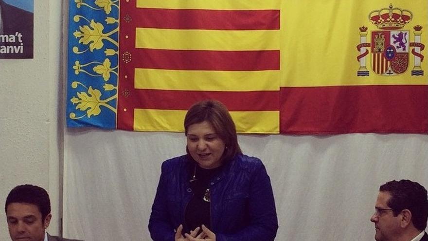 Isabel Bonig, en un acto del PP