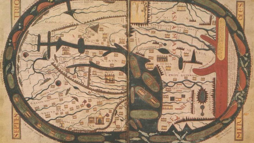 Mapamundi del Beato de Saint-Sever.