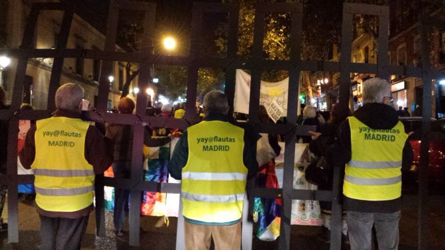 """Manifestación en Madrid bajo el lema """"Migrar para vivir, no para morir"""" / Foto: Yayoflautas"""