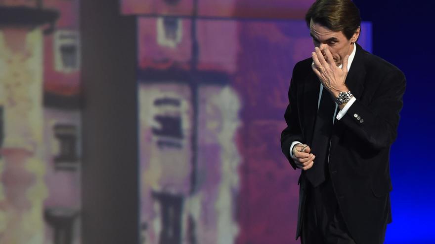 José María Aznar durante el acto de inauguración de la Convención Nacional del PP en Madrid (23 de enero de 2015). / GSR - G3online
