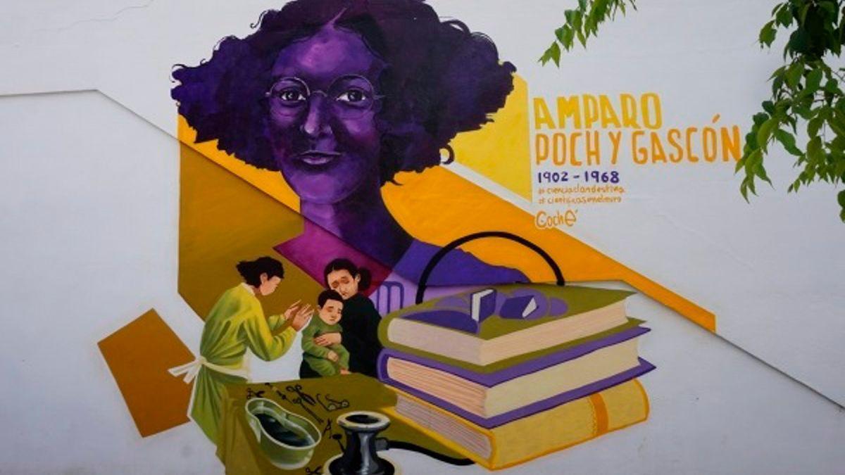 El grafiti de Amparo Poch y Gascón.