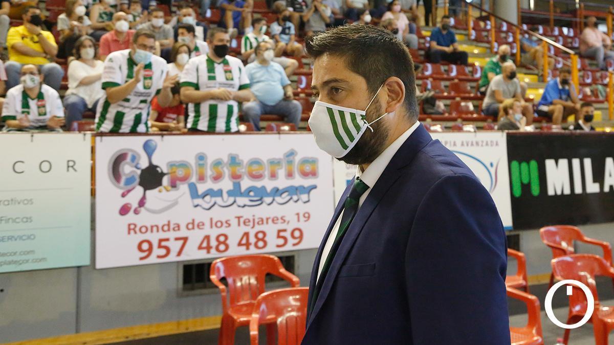Josan González durante el encuentro ante ElPozo