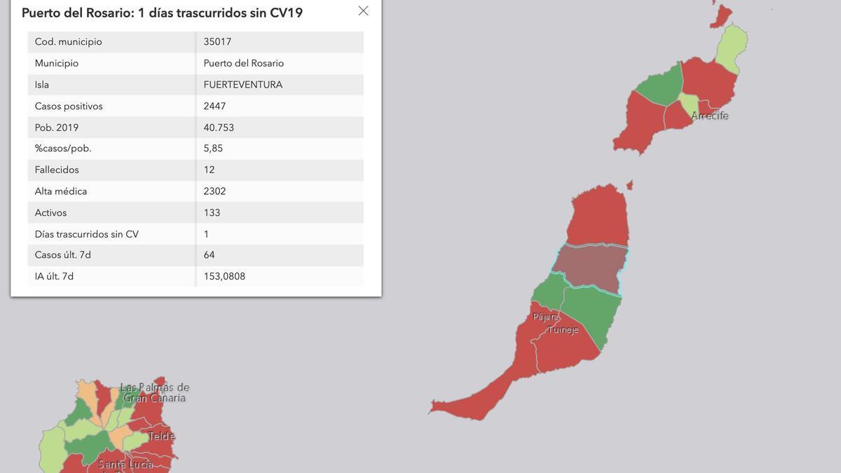Datos epidemiológicos de Puerto del Rosario (Fuerteventura) para este martes, 14 de septiembre