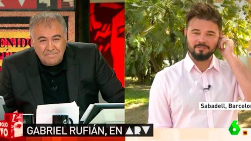 Tensa y surresalista entrevista de Ferreras a Rufián en Al Rojo Vivo