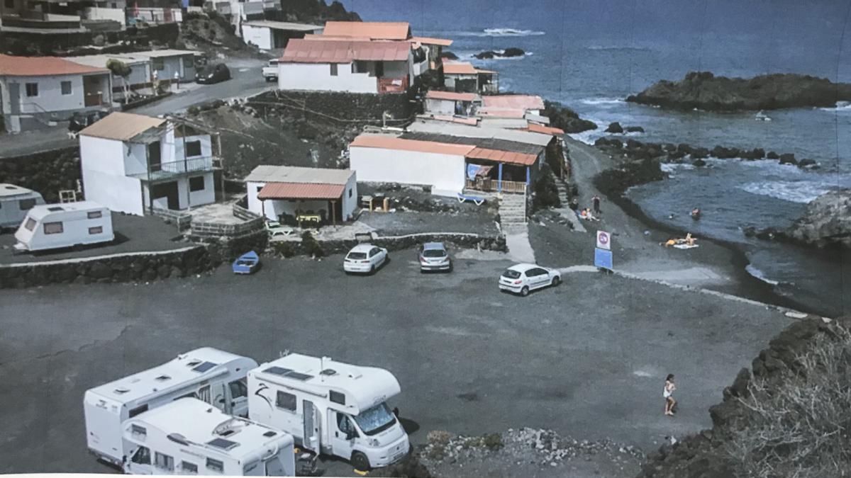 Zona de casetas en Puntalarga.